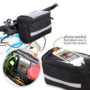 Sac-Saccoche-amp-Support-de-Smartphone-GPS-ecran-5-9-pouce-pour-Guidon-Velo