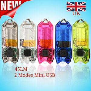 45LM-2-Modes-Mini-USB-LED-Flashlight-Rechargeable-Key-Chain-Light-Lamp