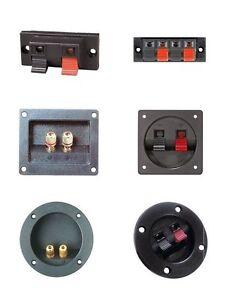 Lautsprecher-Anschlussterminal-Polklemme-Speaker-Boxen-Modul-vergoldet