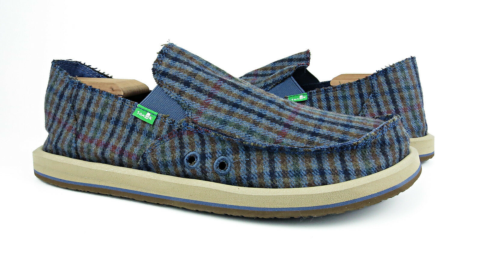 Sanuk Donny bluee Hounds Sidewalk Surfer shoes Mens Size 9 NEW