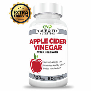 Details About Apple Cider Vinegar Pills Weight Loss Capsules Extra Strength Supplement 1300mg