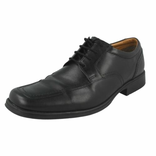 Up Cushioning Toe Clarks Huckley Black para Zapatos cuero Squared de Spring Lace hombre Formal XqEq0