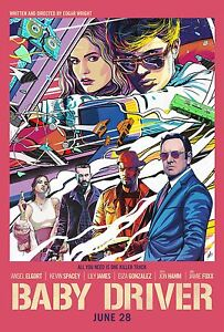 baby driver comic pop art poster a4 a3 a2 a1 cinema movie large