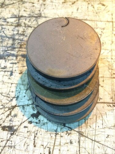 """1//4/"""" .250  40 PIECES SET HRO Steel Sheet Plate Disc Shaped 2 3//8/""""  Round drops"""