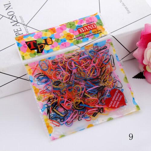 400pcs//pack Gummi Haarband Rope Pferdeschwanz Inhaber Krawatten Elastisches