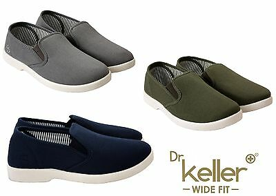 NEW MENS BOYS CANVAS SLIP ON GUSSET PUMPS CASUAL HOLIDAYS SUMMER COMFORTABLE