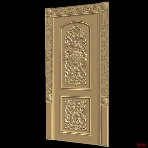 Image is loading 510-STL-Model-Door-for-CNC-Router-3D- & 510) STL Model Door for CNC Router 3D Printer Artcam Aspire Bas ...