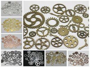 50-Assorted-Steampunk-Cogs-Filigree-Gears-Pignons-Charm-Pendant-Finding-Disc