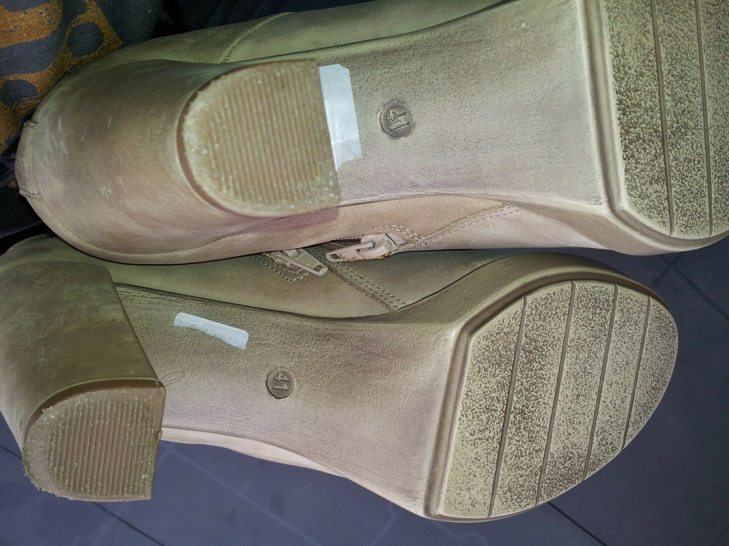 Bull Boxer taupe Stiefelette, Gr. 41, gebraucht, taupe Boxer d92c6e