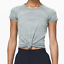 NWOT-RARE-SOLD-OUT-2019-Lululemon-Swiftly-CAMO-Silver-Gray-Blue-Short-Slv-6 miniature 4