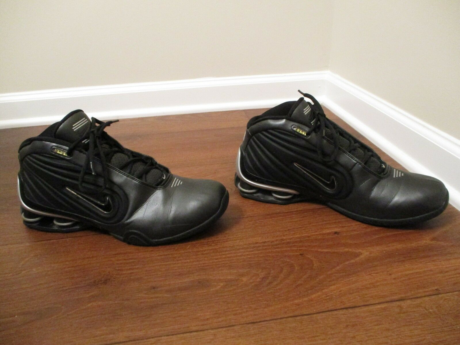 Classic 2002 Used Worn Worn Worn Size 12 Nike Shox Limitless TB shoes Black & Silver 60e63a