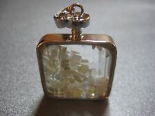 Chinese Aquamarine Shaker Silver Plated Pendant 1pc