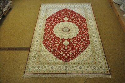 6 x 9 Silk Red Isfahan Area Rugs Fine