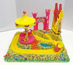 1971-Vintage-Sweet-April-Remco-Play-Land-Musical-Wind-Up-Merry-Go-Round-HTF-RARE