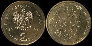 Pologne. 2 Zloty. 2009 (Pièce KM#Y.707 Neuf) L'état polonais clandestin