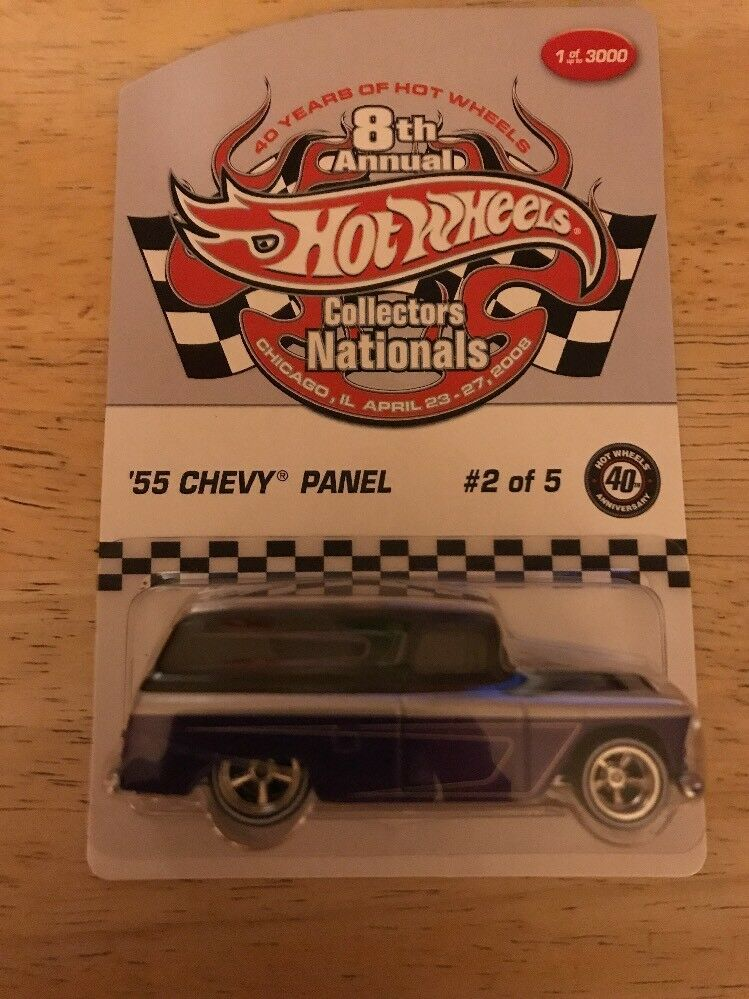 HOT WHEELS 2008 8TH ANNUAL COLLECTORS NATIONALS 55 CHEVY PANEL 1 OF 3000