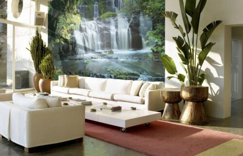 Big Mural Chambre À Coucher PHOTO PAPIER PEINT Falls in the Forest 368x254cm vert decor