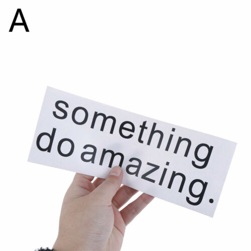 1x Do something amazing never give up Inspirational quote Vinyl Wall Sticker QY