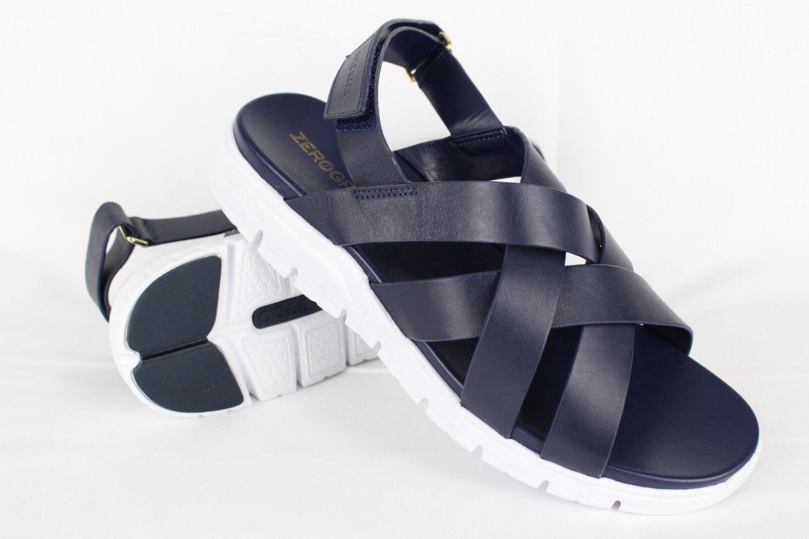 Cole Haan para para para mujer cero Grand Criss Cross Sandalias 8.5B Azul Marino blancoo   W07738  ofreciendo 100%