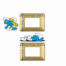 Adesivi Murali  interruttori luce puffi puffo e puffetta switch stckers 2 pz.