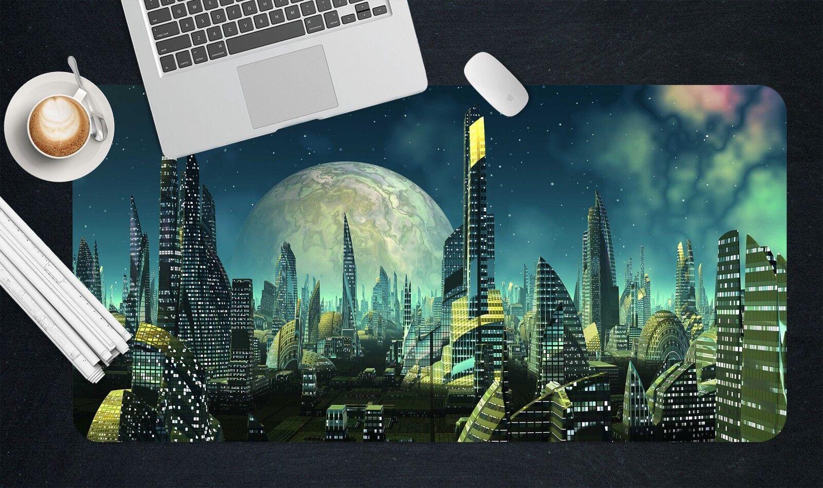 3D Mond Stadt 509 509 509 Rutschfest Büro Schreibtisch Mauspad Tastatur Spiel cb59f6