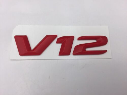 """Chrome /""""V12/"""" Side Emblem Letters Badge Decal Sticker For Mercedes Benz"""