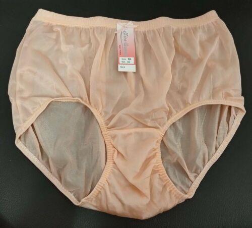 Size XL women nylon lacy panties vintage style soft briefs underwear lace cloth