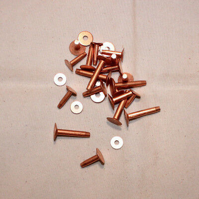 "Rivets and Burrs Pack of 36 #9-1/"" Copper F158"