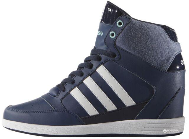 premium selection 04854 ebfe3 Adidas NEO Super Wedge Womens Sports Sneakers F98649 Hi Tops Blue Trainers  Rare