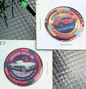 Corvette-1957-1961-Casino-Chip-Hot-August-Nights-Tahoe-Reno-Issued-1999