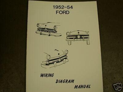1952 1953 1954 Ford Wiring Diagram Manual | eBay
