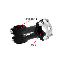 Potencia tija manillar ZOOM aluminio 70mm 35º 31,8mm 25,4mm bici bicicleta