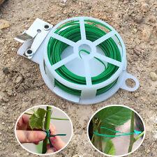 2PCs 50M Garden Twist Tie Wire Reel With Cutter Plant Bush Flower Strong Support