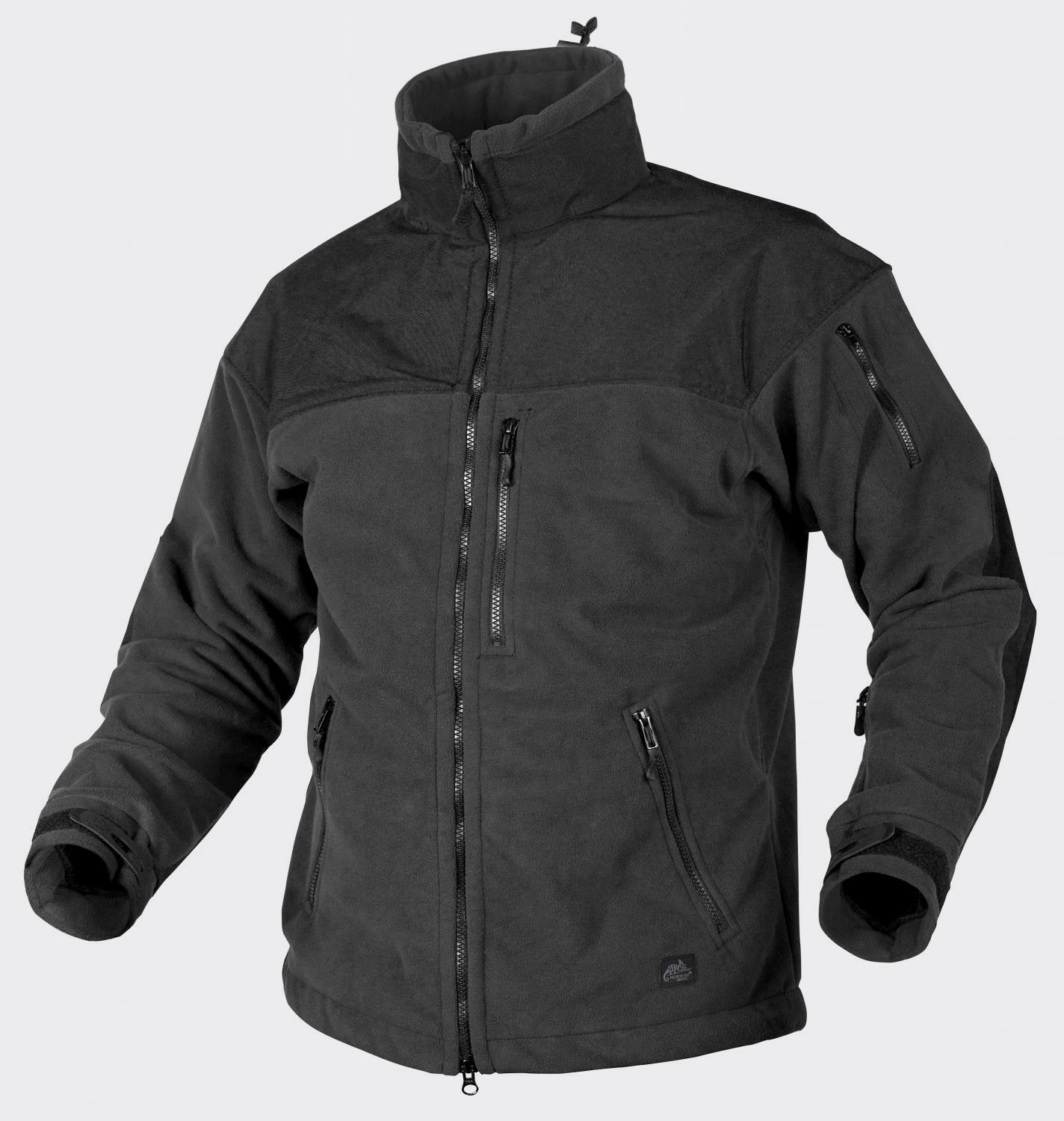 HELIKON TEX CLASSIC ARMY WINDLOCKER OUTDOOR FLEECE JACKE JACKET Schwarz Small