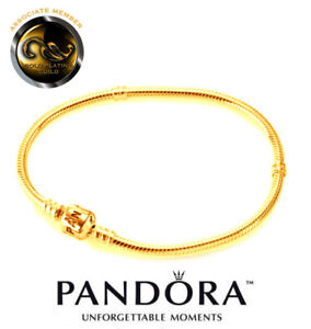 New 24ct Gold Plated Pandora Starter Bracelet In Presentation Box Code 590702hv Ebay