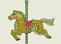 Carousel Horse Machine Embroidery Designs - 41 Designs On Cd/usb -11 Formats