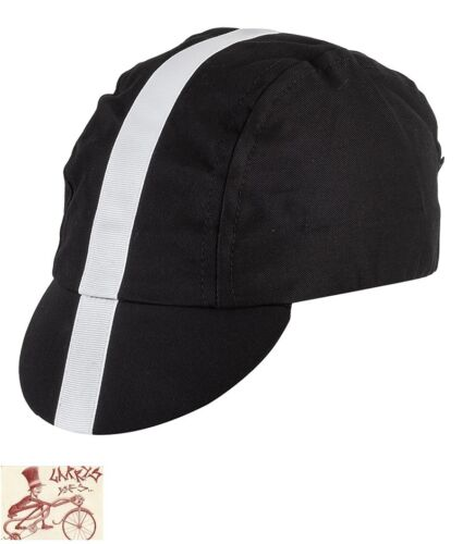 PACE CINELLI BLACK//WHITE CYCLING CAP HAT--ONE SIZE