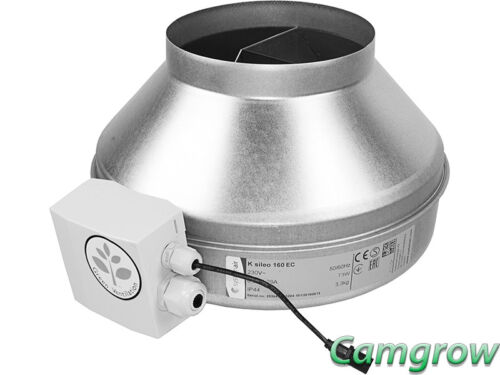 K Fans EC Series Quality Silent Running Inline Fans Hydroponics SystemAir