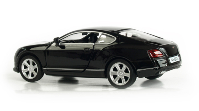 Bentley Continental GT Model Toy Car Kids Gift 1:32 Scale Black White Pull Back