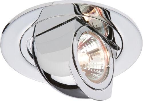 Knightsbridge IP20 12 V 50 W max Chrome Pivotant//Scoop Fitting x1