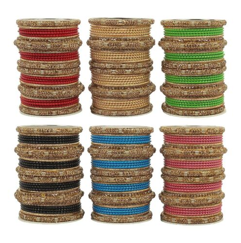 Indian Bollywood Bally Dancing Full Box Set Bangles Matte Wedding Bangles Set