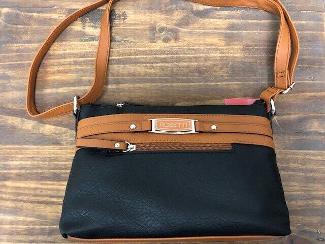 NWT NEW ROSETTI TRIPLE PLAY  Crossbody Bag Purse Handbag ADJUSTABLE STRAP