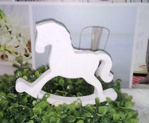 Shabby Chic Natale : Cavallo a dondolo cavallo bianco shabby chic natale cm