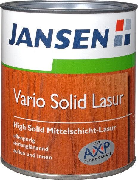 2x JANSEN Vario Solid Lasur 2,5L  versch. Farbtöne