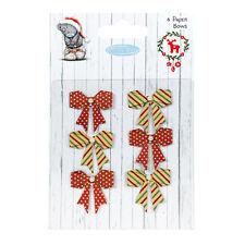 Me To You Navidad Papel Lazos para tarjetas y manualidades