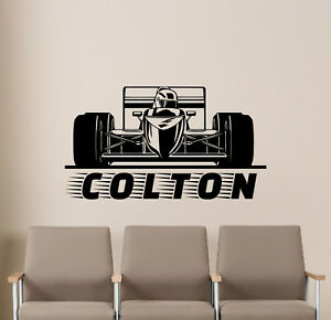 Personalized Name Racing Wall Decal Formula Vinyl Sticker Poster - Formula 1 wall decals