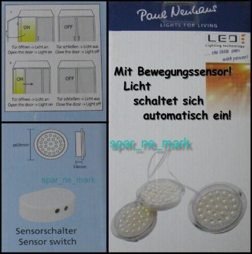 Paul Neuhaus teania 1188-00 3 pièces LED encastré, 72 LEDs, Capteur Interrupteur