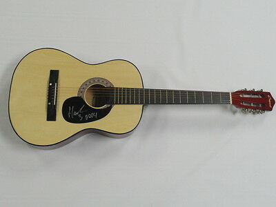 HANK III SIGNED NATURAL ACOUSTIC GUITAR COUNTRY WILLIAMS PROOF AUTOGRAPHED 3