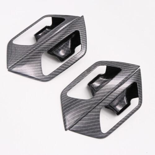 16-18 for Peugeot 3008 GT Allure ABS Carbon Fiber Inner Door Handle Bowl 4PCS