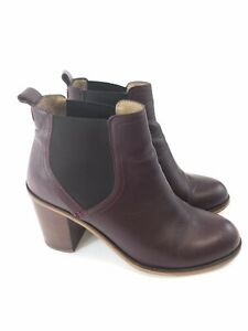 OFFICE-LONDON-Ladies-Leather-Ankle-Pull-On-Chelsea-Boots-Size-UK8-EUR41-VGC